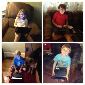 Typing their paragraphs